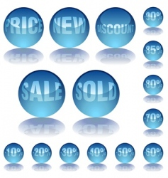 Aqua glass prices vector