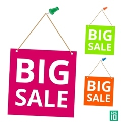 Label big sale pin vector