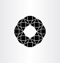 Abstract black polygon geometric icon background vector