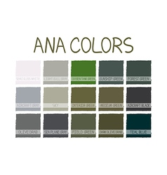 Ana no 2 color tone with name vector