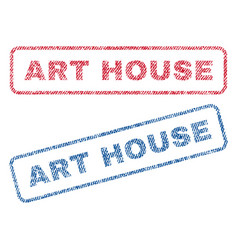 Art house textile stamps vector