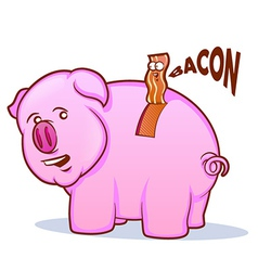 Bacon pig vector