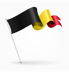 Belgian pin wavy flag vector
