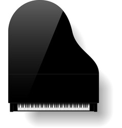 Black grand piano vector image vector image
