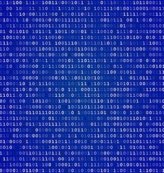 Blue screen binary code screen vector
