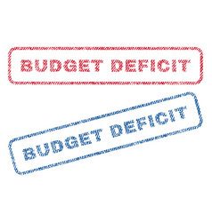 Budget deficit textile stamps vector