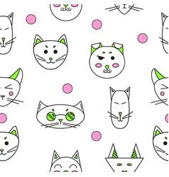 cartoon cats cute funny cats vector image