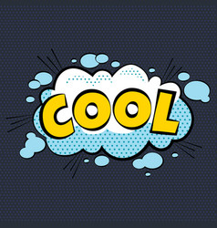 Cartoon comic cool bubbles labels with text and vector