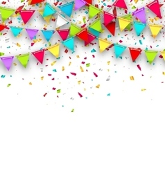 Colorful Background with Hanging Bunting and vector image
