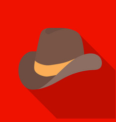 Cowboy hat icon in flat style isolated on white vector