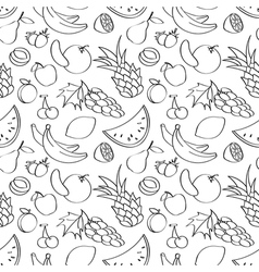 doodle seamless pattern with fruits vector image vector image
