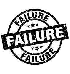 Failure round grunge black stamp vector