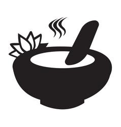 Flat black spa utilities icon vector