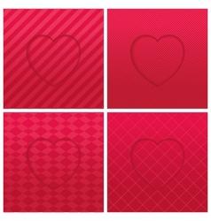 Geometric hearts set vector