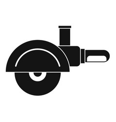 High speed cut off machine icon simple vector