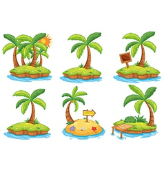 Islands with different signs vector image vector image