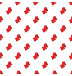 Large arrow shows down pattern cartoon style vector