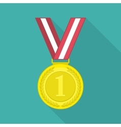 Medal icon with long shadow vector