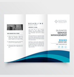 Modern trifold brochure design template vector