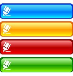 Pencil buttons vector