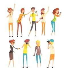 Professional Journalists Set vector image vector image