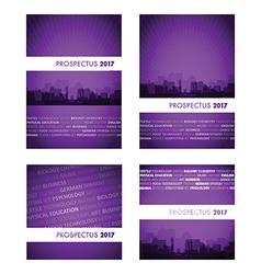 prospectus purple group vector image vector image