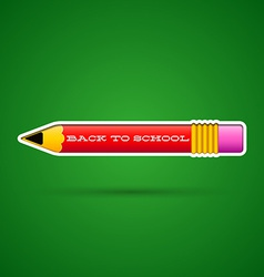 Red pencil sticker with eraser vector image
