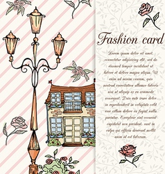 retro hand drawn design card vector image vector image