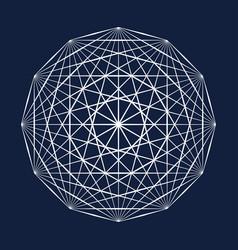 sacred geometry symbol vector image vector image