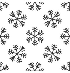 snowflake icon seamless pattern on white vector image