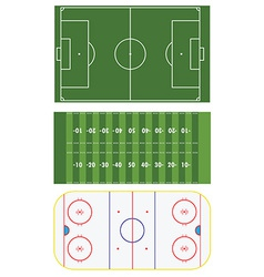 Three sports fields vector image vector image