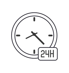 Clock 24h icon vector
