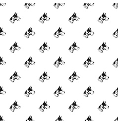 Doberman dog pattern simple style vector