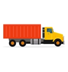 Delivery tipper truck transportation cargo vector