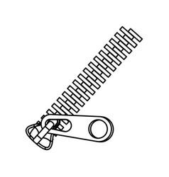 Metallic zipper symbol vector