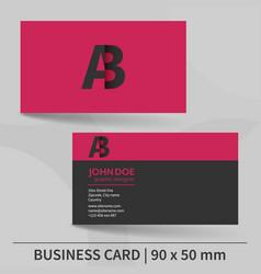 Creative business card template vector