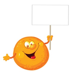 Orange with a blank sign vector
