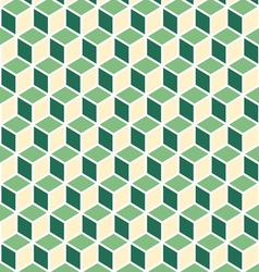 Abstract isometric green cube pattern background vector