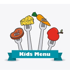 Kids food design vector