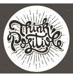 Think positive type design vector