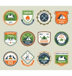Mountain Adventure Emblems vector image