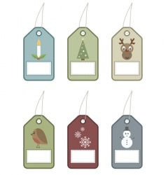 festive tags vector image