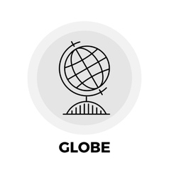 Globe line icon vector