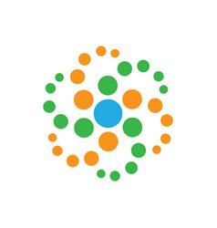 abstract circle dot logo image vector image vector image