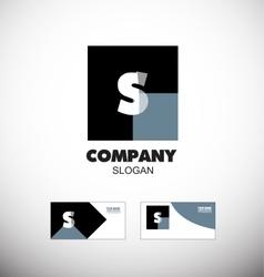 Alphabet letter s vintage black logo icon vector