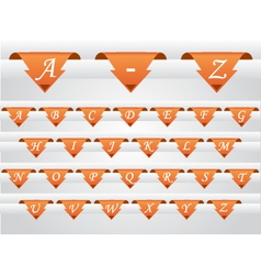 alphabet tabs vector image vector image