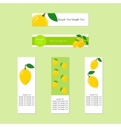 Banners with ripe juicy lemon fruit vector