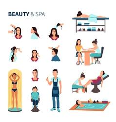 Beauty Salon Spa Set vector image