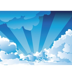 Blue Sky with Clouds5 vector image vector image