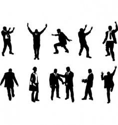 busniess people silhouettes vector image vector image